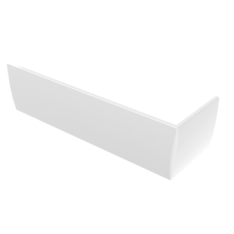 Baignoire Premium Design tablier de baignoire asymétrique l.170x l.55 cm blanc, sensea