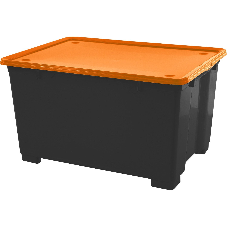 Bac De Rangement En Plastique Cbox M Ga H 45 X L 78 X P 56cm  # Leroy Merlin Boite De Rangement