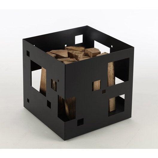 panier b ches en acier atelier dix neuf citybox noir. Black Bedroom Furniture Sets. Home Design Ideas