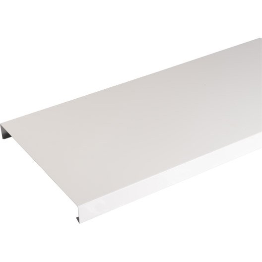 Couvertine aluminium 30 x 270 mm l 2 m leroy merlin for Appui de fenetre alu leroy merlin