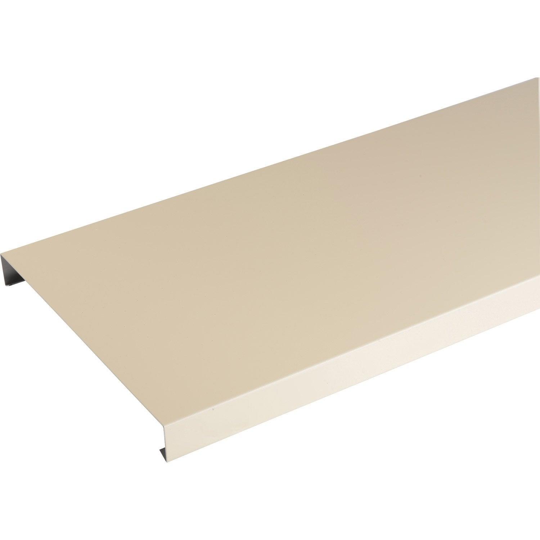 couvertine aluminium 30 x 270 scover plus sable l 2 m leroy merlin. Black Bedroom Furniture Sets. Home Design Ideas