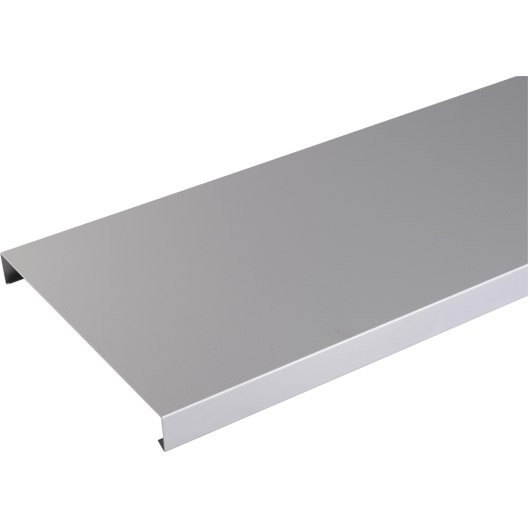 couvertine aluminium 30 x 270 scover plus gris l 2 m leroy merlin. Black Bedroom Furniture Sets. Home Design Ideas