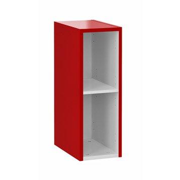 meuble de salle de bains moins de 60, rouge, remix | leroy merlin