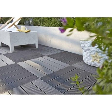 dalle bois pour terrasse et jardin dalle et lame bois pour terrasse et jardin leroy merlin. Black Bedroom Furniture Sets. Home Design Ideas