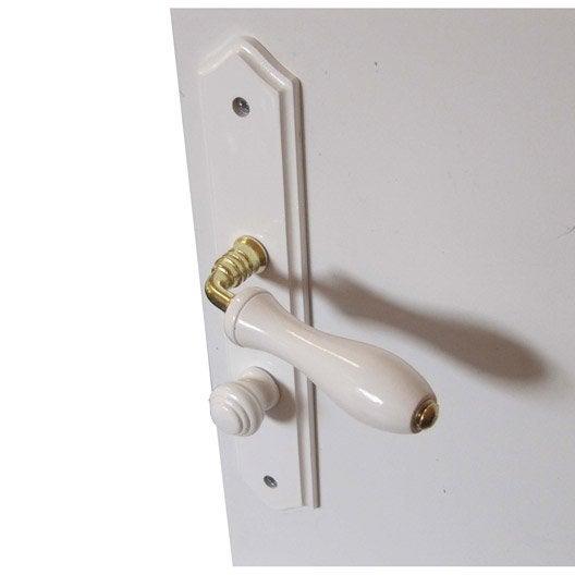 2 poign es de porte bois condamnation et d condamnation bois 195 mm leroy merlin. Black Bedroom Furniture Sets. Home Design Ideas
