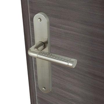 2 poignées de porte Tolbiac sans trou INSPIRE, aluminium, 195 mm