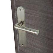 Poignées de porte Tolbiac 40mm sans trou en aluminium nickelé