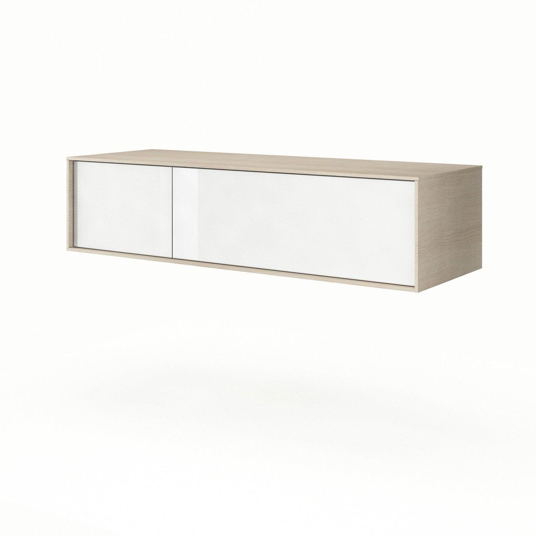 Meuble bas x x cm neo frame leroy merlin - Meuble salle de bain 135 cm ...
