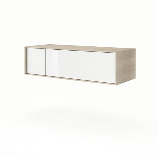 meuble bas x x cm neo frame leroy merlin. Black Bedroom Furniture Sets. Home Design Ideas