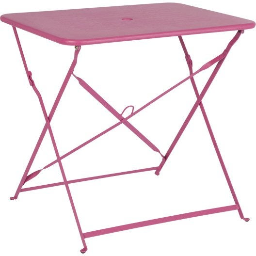 table de jardin capri rectangulaire rose 2 personnes. Black Bedroom Furniture Sets. Home Design Ideas