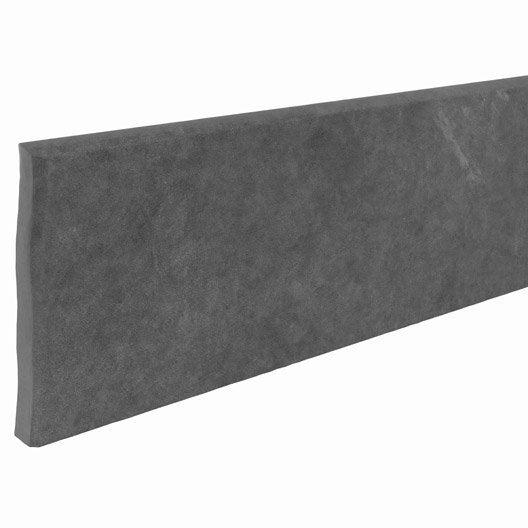 Lot de 3 plinthes monastere noir anthracite l 8 x cm leroy merlin - Couleur noir anthracite ...