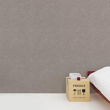 Papier peint intissé Beton mat brun taupe n°4