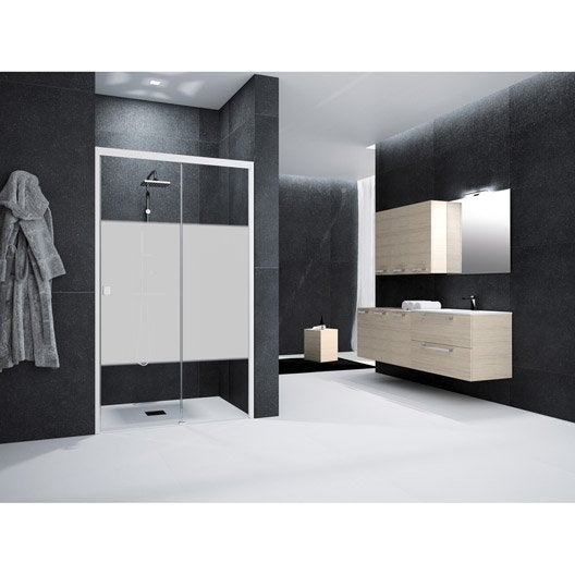 porte de douche coulissante 120 cm s rigraphi neo leroy merlin. Black Bedroom Furniture Sets. Home Design Ideas