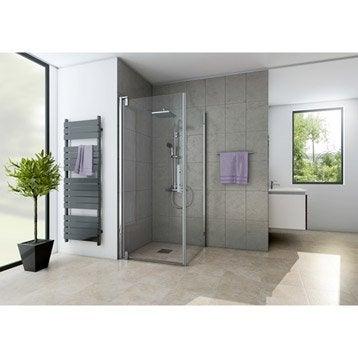 Porte de douche pivotante 89 cm, transparent, Adena