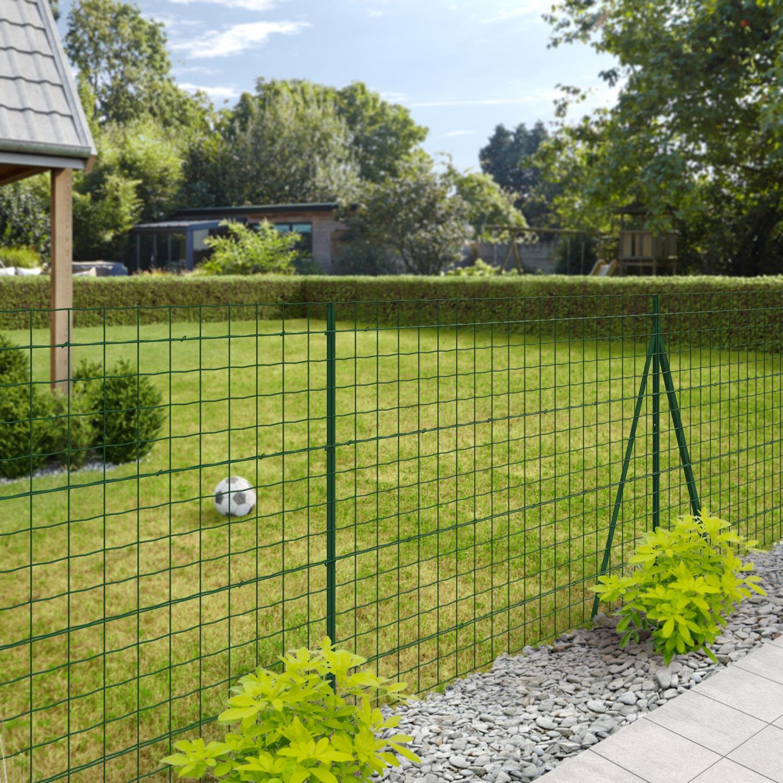 Grillage Jardin Hauteur 2M grillage rouleau soudé yucca vert, h.1.5 x l.20 m, maille h.100 x l.101.6 mm
