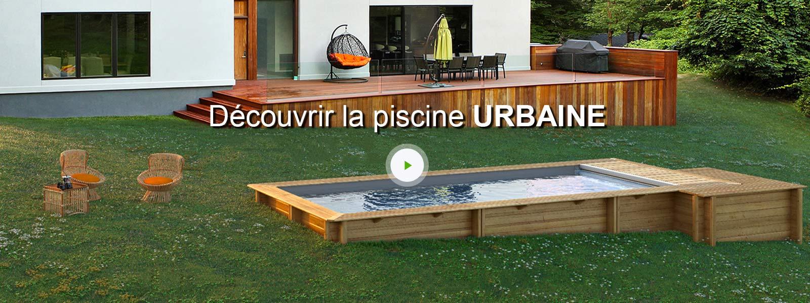 Piscine hors sol bois urbaine proswell by procopi l 6 x l for Piscine urbaine leroy merlin
