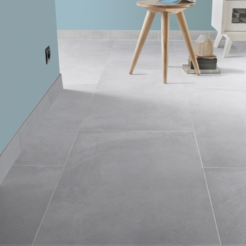 carrelage sol et mur gris brume effet b ton live leroy merlin. Black Bedroom Furniture Sets. Home Design Ideas
