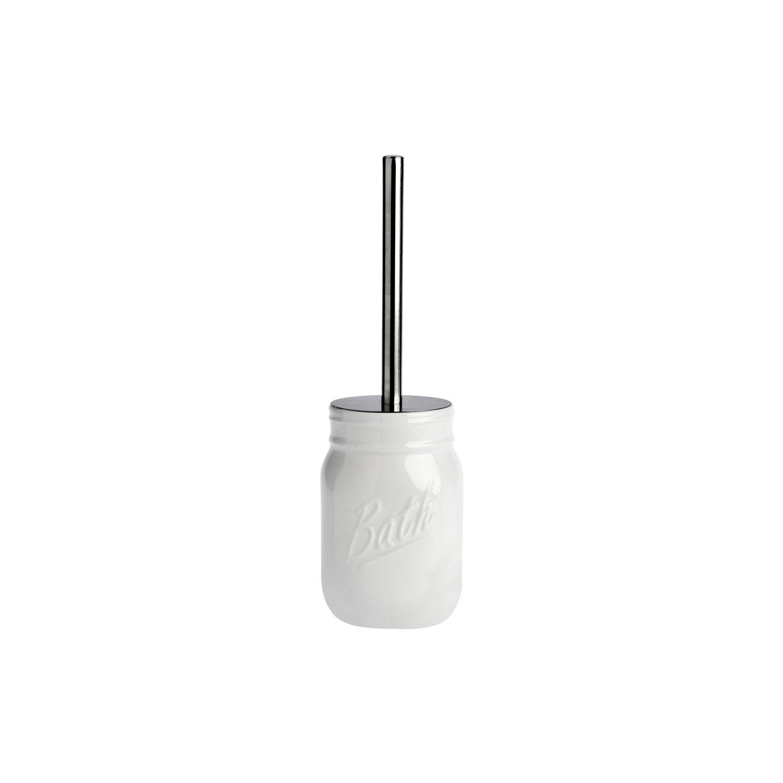 Brosse WC porcelaine Pot parfait, blanc