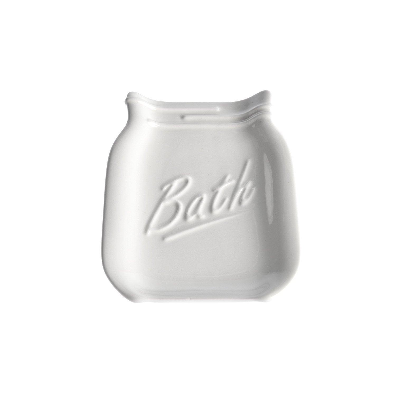 Porte-savon porcelaine Pot parfait, blanc