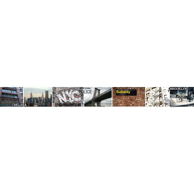 Frise vinyle adhésive New york L.5 m x l.15 cm | Leroy Merlin