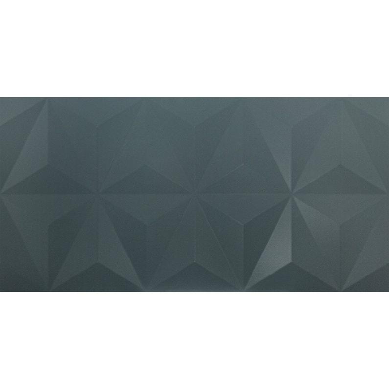Décor Mur Uni Bleu Paon Mat L 40 X L 80 Cm Home Diamond