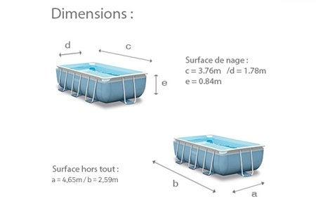 Piscine hors sol tubulaire prism intex x h 1 m leroy merlin for Dimension piscine hors sol intex