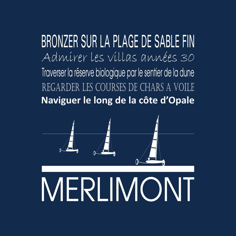 Toile imprimée MERLIMONT, bleu foncé ARTIS l.30 x H.30 cm