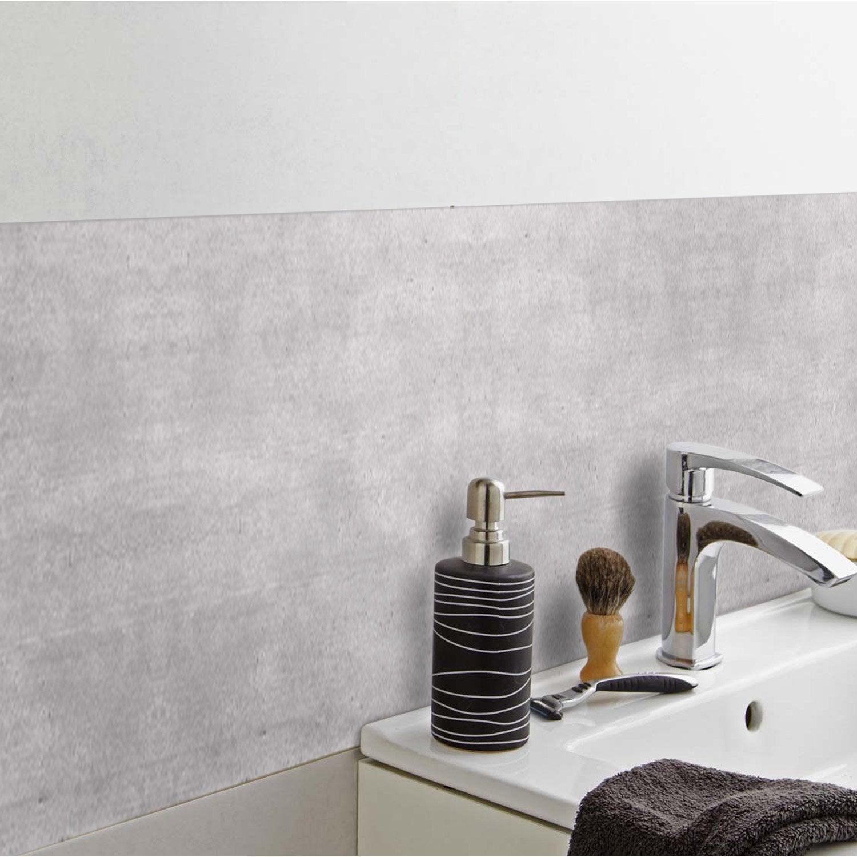 Crédence adhésive rigid ciment clair 98 cm x 24.5 cm