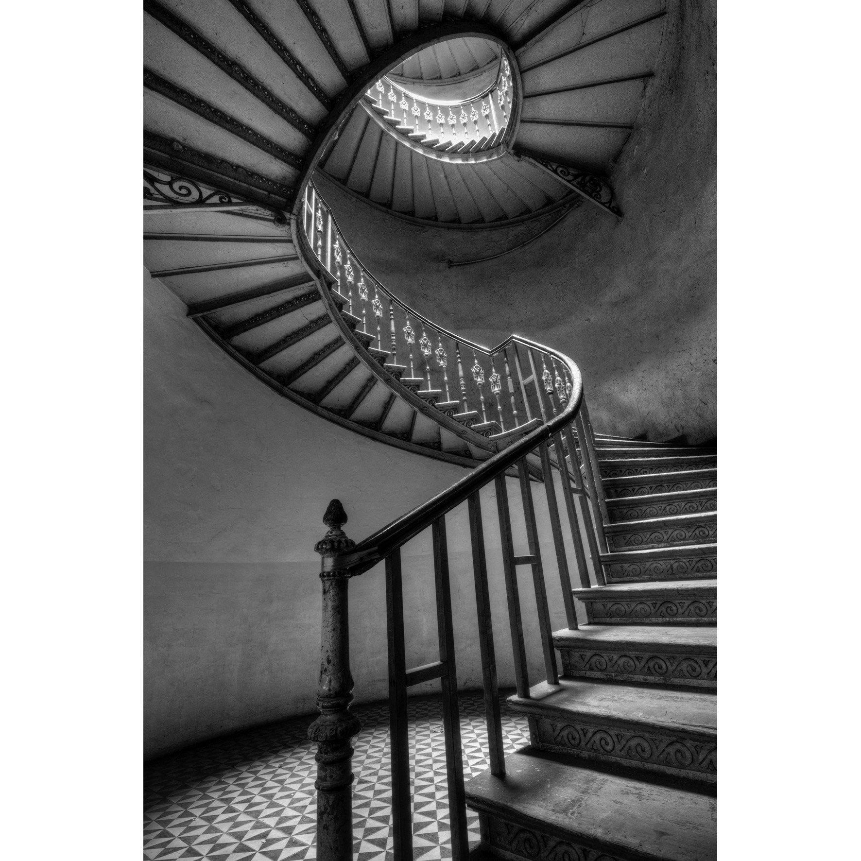 Toile imprimée Montée Escalier, noir & blanc ARTIS l.97 x H.65 cm