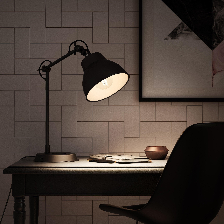 Lampe de bureau, design, métal noir usb, INSPIRE Mezzo