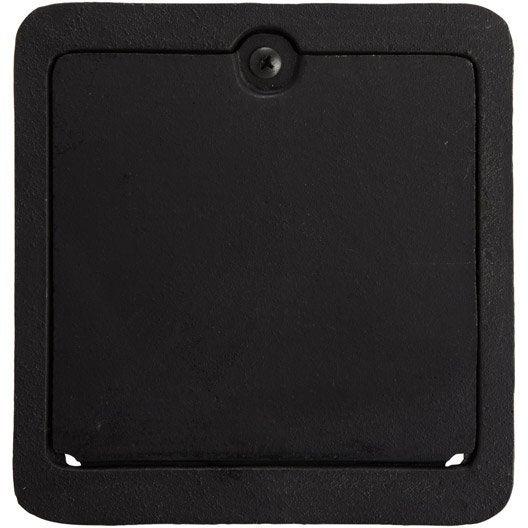 trappe de ramonage fonte noir dmo, l.18.4 x h.19.5 cm | leroy merlin