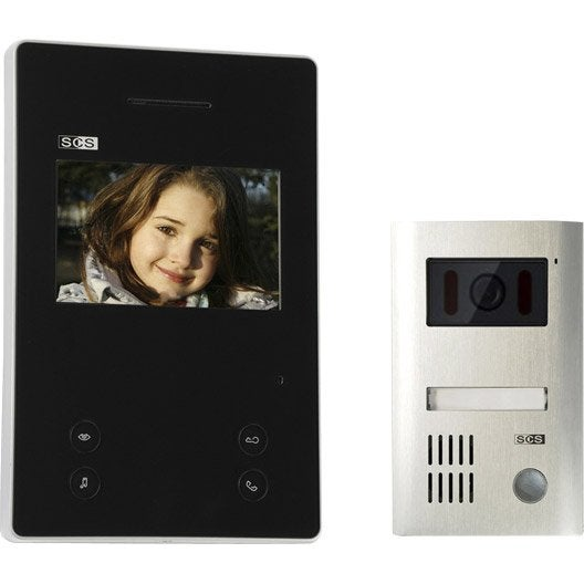 interphone visiophone 2 fils scs sentinel sofia m1e7 top b. Black Bedroom Furniture Sets. Home Design Ideas
