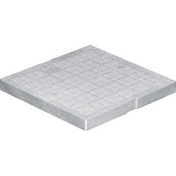 Tampon de sol antichoc pvc gris FIRST PLAST, L.20 x l.20 cm