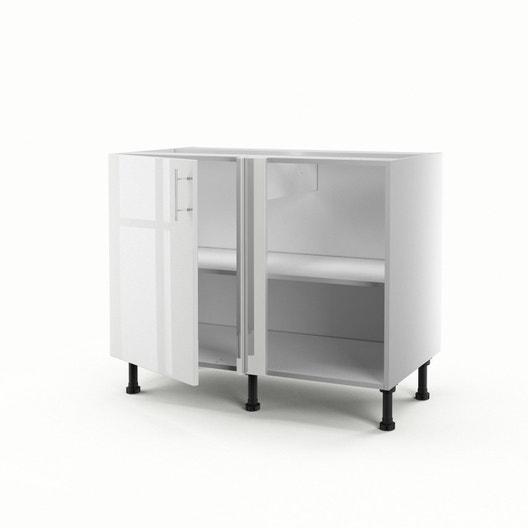 meuble de cuisine bas dangle blanc 1 porte rio h70 x l