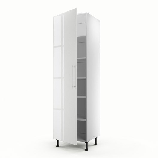 meuble de cuisine colonne blanc 1 porte rio x x. Black Bedroom Furniture Sets. Home Design Ideas
