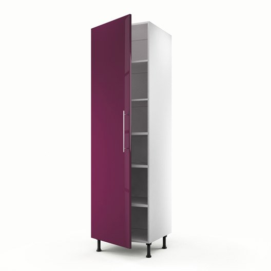 meuble de cuisine colonne violet 1 porte rio x x cm leroy merlin. Black Bedroom Furniture Sets. Home Design Ideas