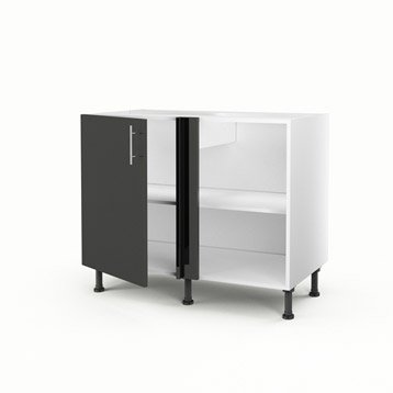 meuble de cuisine gris delinia rio leroy merlin. Black Bedroom Furniture Sets. Home Design Ideas