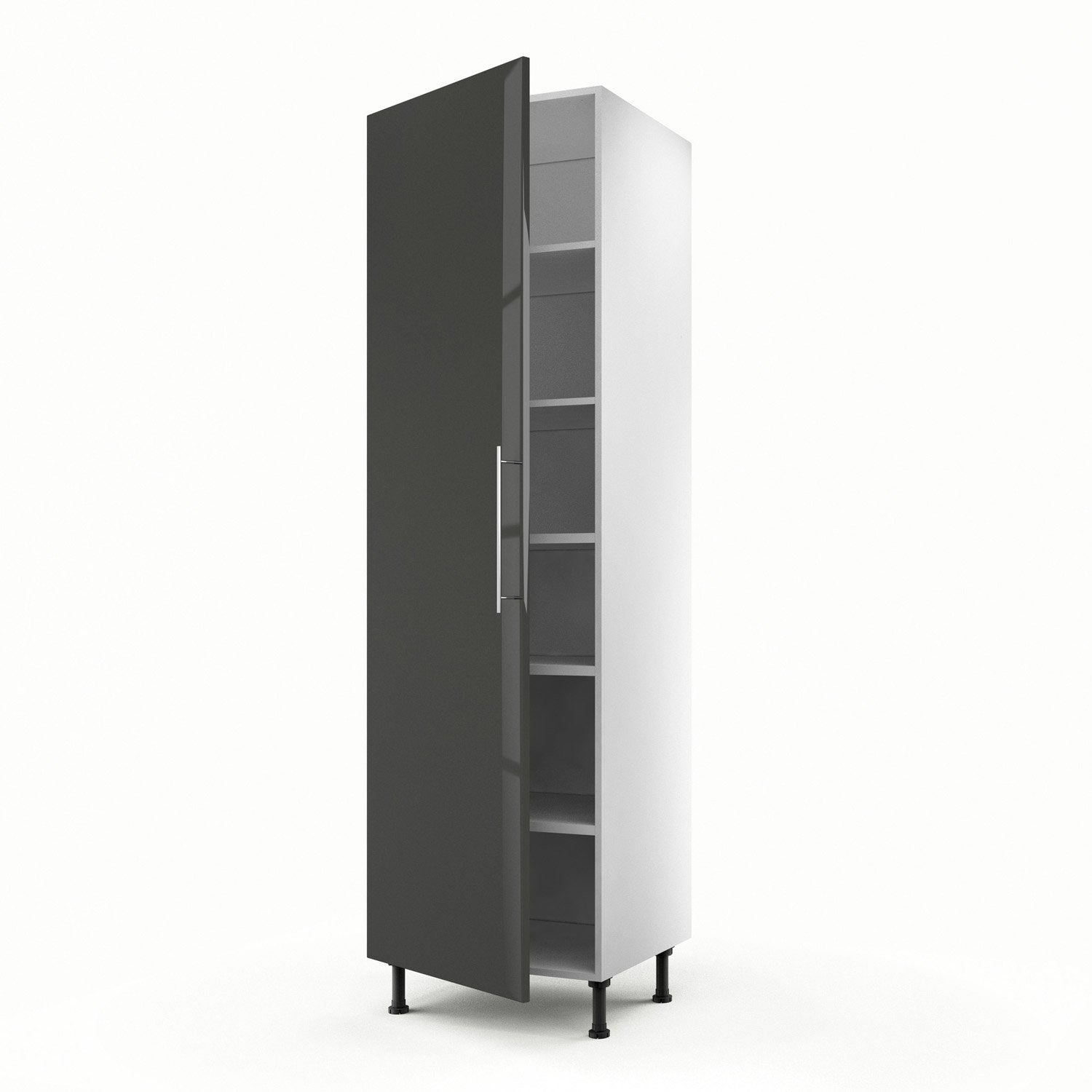 meuble de cuisine colonne gris 1 porte rio x x. Black Bedroom Furniture Sets. Home Design Ideas