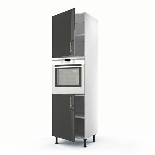 meuble de cuisine gris delinia rio leroy merlin. Black Bedroom Furniture Sets. Home Design Ideas