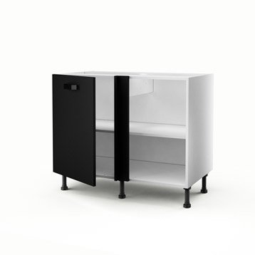 meuble de cuisine noir delinia mat edition leroy merlin. Black Bedroom Furniture Sets. Home Design Ideas
