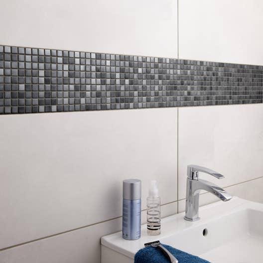 Fa ence mur gris blanc denver x cm leroy merlin - Deposer du carrelage mural ...
