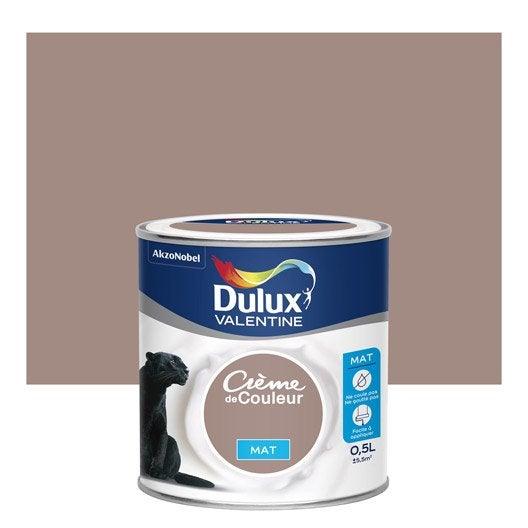 Peinture Taupe Mat Dulux Valentine Crème De Couleur 0.5 L | Leroy