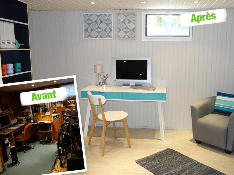 relooking du bureau leroy merlin. Black Bedroom Furniture Sets. Home Design Ideas