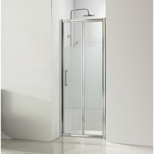 Porte de douche pliante 90 cm s rigraphi quad leroy for Porte accordeon pour douche
