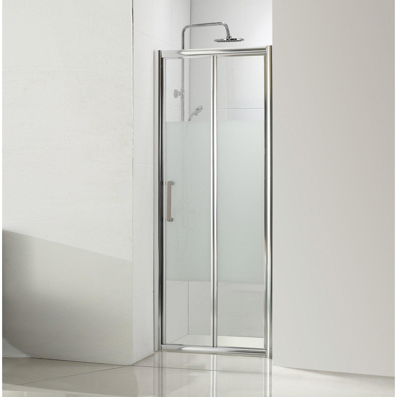 Porte de douche pliante 100 cm s rigraphi quad leroy for Poser porte de douche