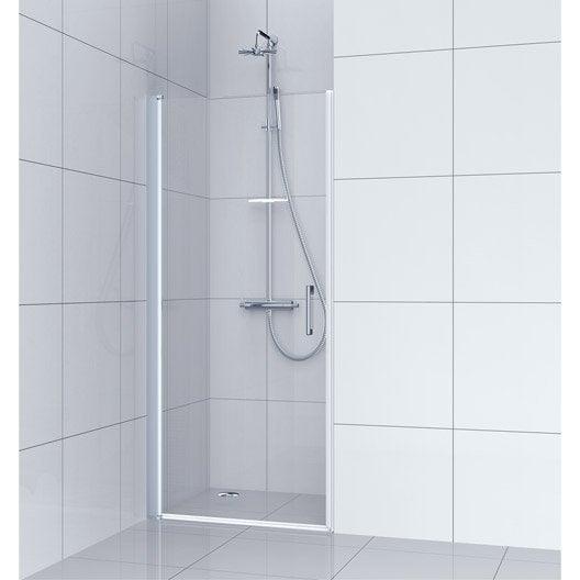 Porte de douche au meilleur prix leroy merlin - Porte de douche coulissante 100 ...