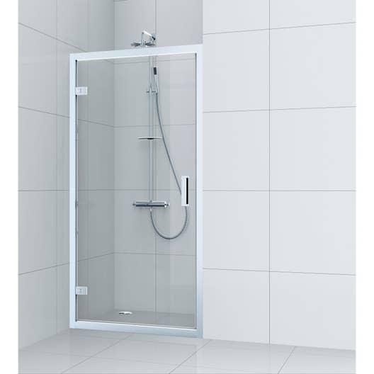 Porte de douche pivotante 90 cm transparent charm leroy merlin - Porte de douche 90 ...