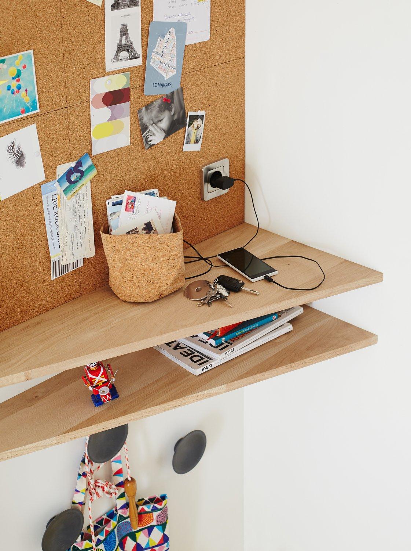 une entr e am nag e avec tablette vide poche leroy merlin. Black Bedroom Furniture Sets. Home Design Ideas