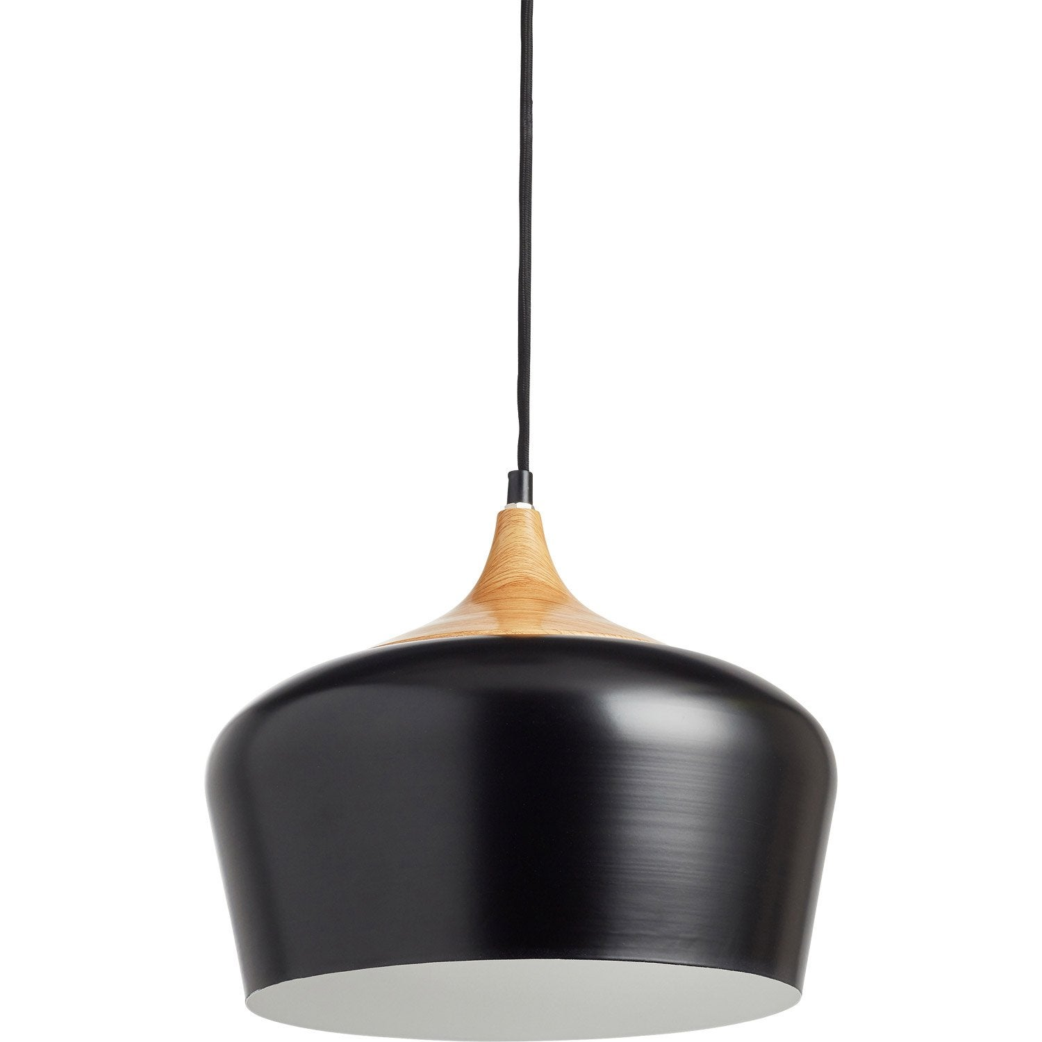 Suspension, e27 design Fresno métal noir 1 x 60 W INSPIRE