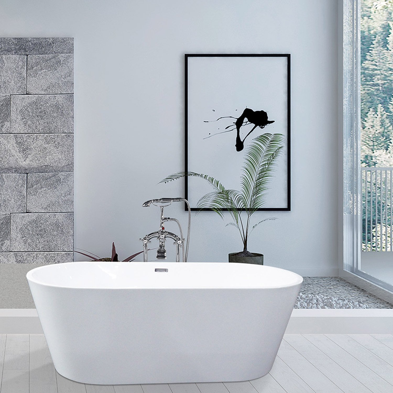 Ma Salle De Bain Baignoire Ilot ~ baignoire lot ovale l 170x l 80 cm blanc anna leroy merlin